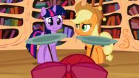"Twilight and Applejack ""three cutie marks!"" S02E06"