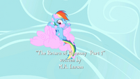 Rainbow Dash sticked to cotton candy cloud S2E01