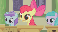 Apple Bloom with her pencil S1E12