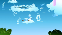 Filly Rainbow Dash and the colts racing in the sky S1E23