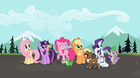 Ponies watching fly-by S2E7