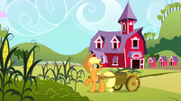 Applejack harvesting corn S2E01
