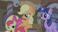 "Applejack ""hush and let the big ponies talk"" S1E09"