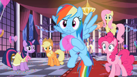 The group staring at Rarity S2E09