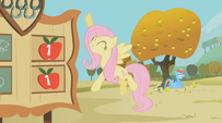 Fluttershy in charge of the scoreboard S1E13