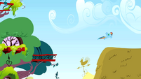 Rainbow Dash leaves S01E16