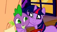 Twilight Hugs Spike S2E3