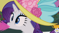 Rarity spitting out drink S2E9