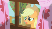 Applejack peering through window 5 S01E18