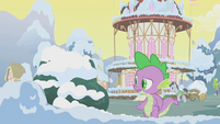Spike asking Twilight to come out of hiding S1E11