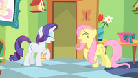 Fluttershy and Rarity Giggling S1E20