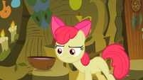 Apple Bloom looking at the cure for her tooth S2E6