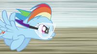 Rainbow Dash flying fast S2E03