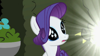 Rarity sees the three small diamonds S2E01