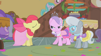 "Diamond Tiara and Silver Spoon ""compliment"" Apple Bloom's dress S01E12"