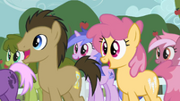 Dr. Hooves and Sea Swirl excited S2E15