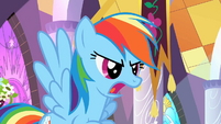 Rainbow Dash defends the princess S2E01
