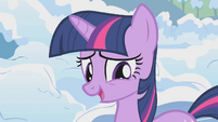 Twilight pretends that Pinkie made her feel better S1E11