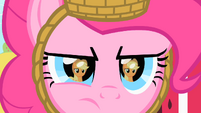 Pinkie stares at Applejack S1E25