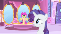 Rarity and Fluttershy nervous S1E20