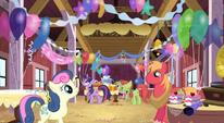 Preparing for Applejack's surprise party S2E14