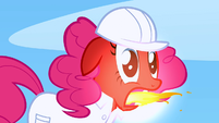 Pinkie Pie momentarily belches fire S1E16