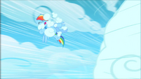 Phase 2 stray cloud hits Rainbow Dash S1E16