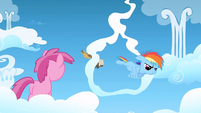 Filly Rainbow flying through the cloud ring S1E23