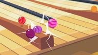 Bowling ball crashes into ball rack S2E06