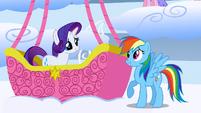 Rainbow Dash forgives Rarity S01E16