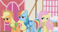 Applejack, Rainbow Dash and Fluttershy are disappointed S1E11