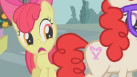Apple Bloom mortified that Twist got her cutie mark S01E12