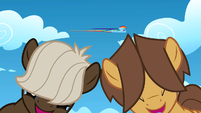 Filly Rainbow Dash flying in the sky S1E23