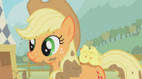 Applejack with the chickens S01E13
