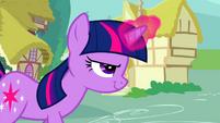 Twilight confidently using her magic S2E24