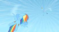 Rainbow flies down to save Rarity S1E16