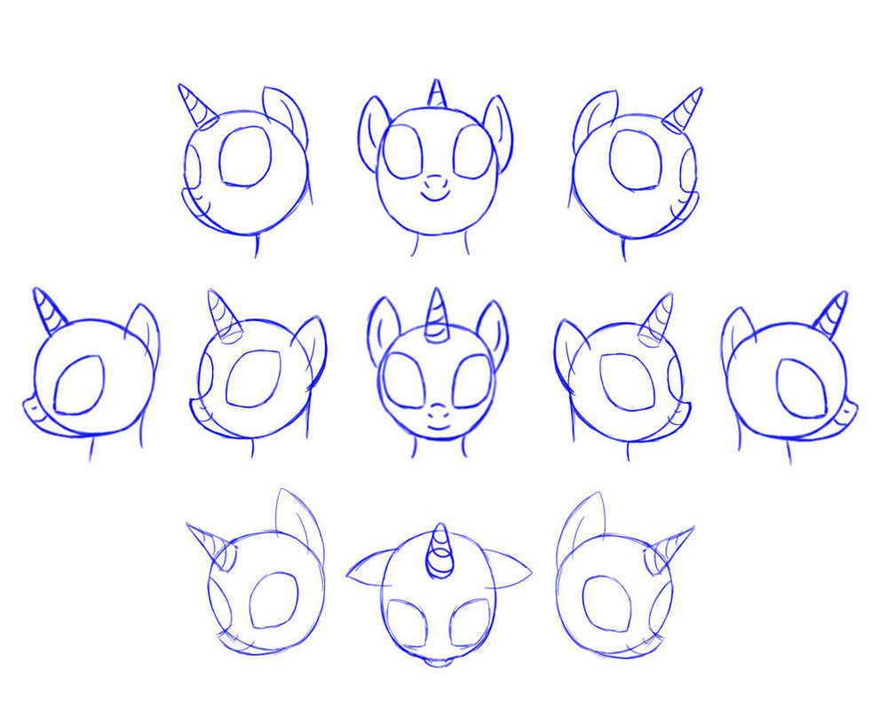 How to draw a pony from the girl of Equestria