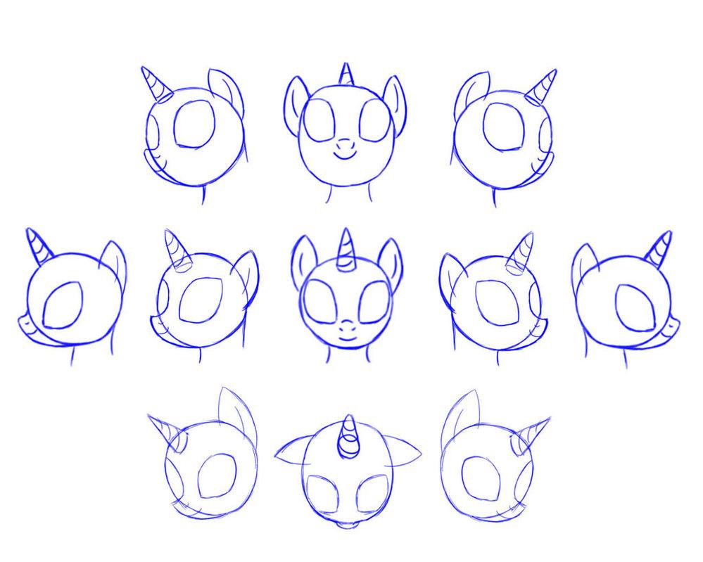 mlp draw pony head by pennygu d5wdbszjpg
