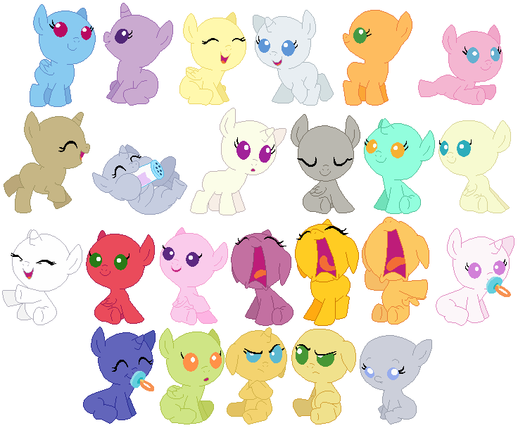bases mlp base baby foals pony selenaede deviantart little group babies drawing foal oc stuff sheet ponies pegasus here accessory