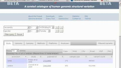 The New Database of Genomic Variants -- DGV2 (edited)