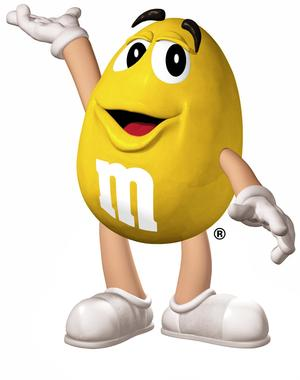 Image result for yellow m&M