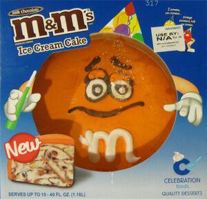 Celebration m&ms ice cream