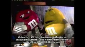 M&M's Candy Television Commercial 1998 Millennium Wrapper