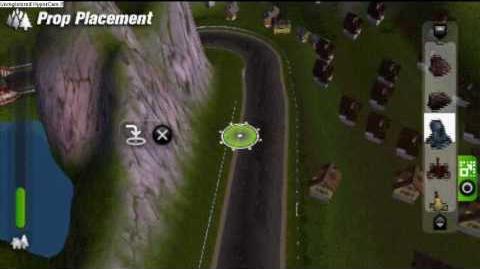 ModNation Racers PSP gameplay(Track creating)