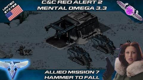 MENTAL OMEGA 3.3 RED ALERT 2 - Allied Mission 7 HAMMER TO FALL