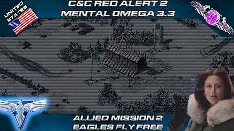 MENTAL OMEGA 3.3 RED ALERT 2 - Allied Mission 2 EAGLES FLY FREE