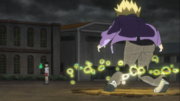 Teru fights Mob