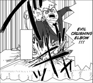 Reigen Special Technique - Evil Crushing Elbow