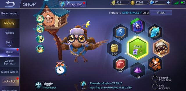 Lucky Spin Diggie