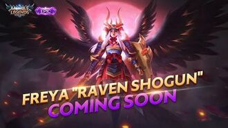 FREYA New Epic Skin RAVEN SHOGUN Mobile Legends Bang Bang